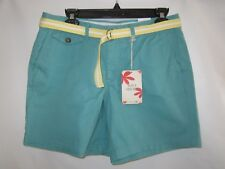 Dockers Women's Soft Green Short With Yellow Belt Size 6 New With Tags