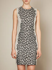 DVF DIANE VON FURSTENBERG Tilda Dress Light Grey Knit Dress Black Detail 2