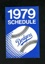 Los Angeles Dodgers--1979 Pocket Schedule--Federated Group