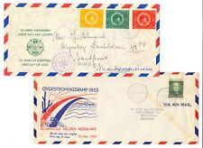 CURACAO NED ANTILLEN -1953/58 ---8 x FDC -F/VF