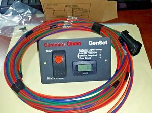 ONAN SILENT REMOTE GAS START SWITCH HOUR METER WITH 25' HARNESS 8-PIN PLUG 12V