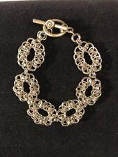 Handmade Celtic Weave  flower silver chain maille bracelet. NWOT custom sizes