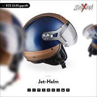 SOXON SP-325 Urban B Motorcycle Jet Vespa Scooter Helmet Leather ECE XS S M L XL