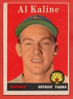1958 Topps #70 Al Kaline EX/EX+ WRINKLE HOF Detroit Tigers FREE SHIPPING