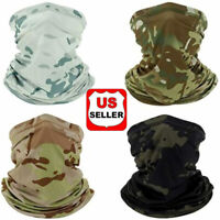 Elastic Tube Bandana Face Mask Cooling Cover Multi-Use Camo Scarf Neck Gaiter vi