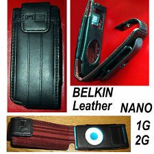 Belkin Black Leather Esquire Case for Apple iPod Nano 1st gen 1G ~ LIFE WARRANTY