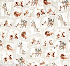 WOODLAND PATCH ANIMALI patchwork tessuto sostanze natale patchwork tessuto di Natale