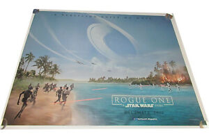 Rogue One a Star Wars story movie UK quad poster ORIGINAL D/S Full Size