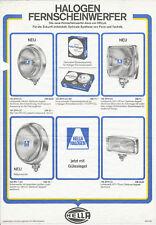 Hella Fernscheinwerfer Prospekt 1969 7/69 brochure prospectus brosjyre broschyr