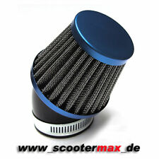 Luftfilter blau AW 48-50mm 45° für z.B. PWK Vergaser OKO Stage6 Dellorto VHST