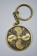 Keychain - Antique Fan - Vintage Fan - Emerson GE Westinghouse - Brass Blades