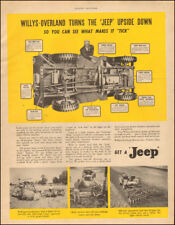 """1946 Vintage ad for Jeep`Willy's """"Jeep"""" upside down.     (071718)"""