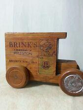 Vintage 1979 Toystalgia Brink's Wood Truck Coin Bank