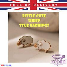 Little Cute Sheep Stud Earrings For Women & Children Fashion White Gold Earrings