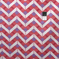 Zandra Rhodes Feathered PWZR016 Zig Zag Berry Cotton Fabric By Yd