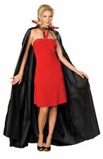 Adult Dracula Vampire Long Cape Fancy Dress Costume Halloween Party Black & Red 120 Cm
