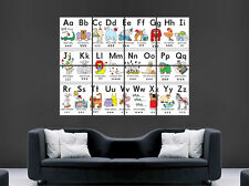 ALPHABET POSTER ANIMALS NURSERY EARLY LEARNING CHILDREN BABY GIANT ART PRINT