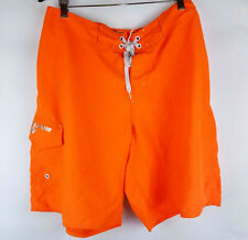 Mens Laguna Neon Orange Board Shorts Size 38 EUC Free Shipping