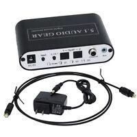 5.1 Audio Gear Digital to 5.1CH Analog Surround Sound Rush Decoder AC3/DTS+Plug