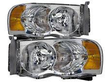 02-05 Dodge Ram 1500 & 03-05 Ram 2500/3500 Headlights Headlamps Pair Set New