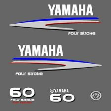 kit stickers YAMAHA 60 cv serie 2 - autocollant capot moteur hors-bord decals