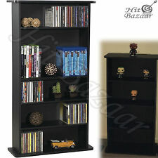 BOOKCASE RACK CD STORAGE DVD Cabinet Multimedia Organizer Blu-Ray Shelf Stand