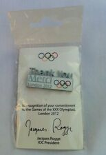 "London 2012 Olympic Games International Olympic Committee ""Thank You/ Merci"" Pin"