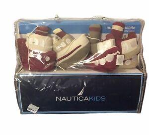 Nautica Kids Boys Quentin Maroon ship Crib Musical Mobile Lullaby Baby Decor