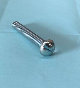 (100) 1/4-20 X 1-3/4 Slotted Round Machine Screws Steel Zinc decorative