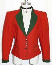 RED COTTON & LINEN JACKET Women Summer Riding Hunting German Dress Suit 10 M B40