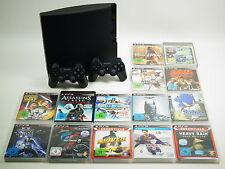 Playstation 3 Slim PS3 Konsole 120GB mit 1-2 Controller und 3-10 Spielen #49014