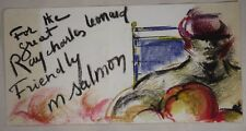 For the Great Sugar Ray Leonard Boxer Michele Salmon Original Chalk Painting