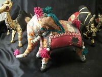Animals camel elephant antelope giraffe fabric jewels art zoo nativity quilt