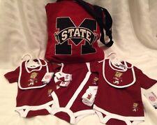 Mississippi State University Bulldogs Baby Creeper Bib Socks Totebag 0-9 Mo Lot