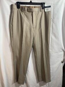 Calvin Klein Nwt Men's 100% Linen Flat Front Jonny Tan SLIM Fit Pants Slacks