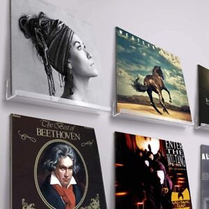 Record Shelf  Wall Mount 6 Pack Album Record Holder Display Your Daily Listening