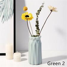 Nordic Style Geometric Tabletop Plastic Vase Flower Plants Pot Home Decor