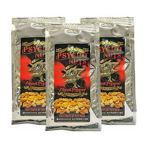 Dr Burnorium Psycho Juice Spicy Peanuts Ghost Chilli Pepper Hot Nuts Packets