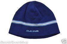 Dakine MONEY Blue White Light Blue Striped Knit Cap Hat Beanie