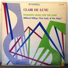 Mildred Dilling Claire De Lune Romantic Music for the Harp Urania US5138 Mint