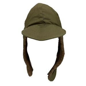 Korean War US Military M1951 Cold Weather Pile Field Cap With Ear Flaps Wool