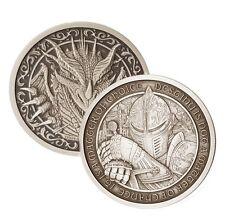 Destiny Knight - The Dragon 2 oz .999 Silver Antiqued Finish Round USA Coin