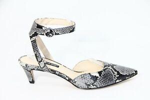 Nine West Animal Print Heels Snake skin Shoe 9.5 New ankle strap Kitten pointy