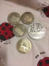 liechtenstein 1975 silver medal And 4pc 1993 94 95 Cuni 5 Ecu coin,1982 medal