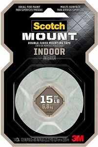 Scotch Indoor Mounting Tape 1.27cm x 1.9m 110P Holds up to 4kg