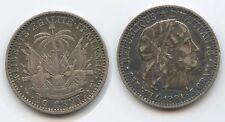 G2784 - Haiti 20 Centimes 1881 A (An78) KM#45 XF Silber RAR Republic Haïti