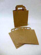 50 St. Papiertragetaschen 22x11x25cm braun Tragetaschen Papiertüten Papierbeutel