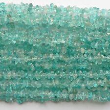 "Apatite Chip Beads 35"" Strand Semi Precious Gemstone"