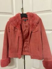 Genuine Suede Leather Jacket Size 4