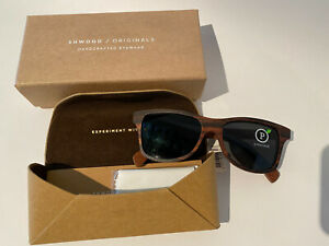 Shwood *limited edition* Canby Ebony with oxidized metal Polarized made in USA